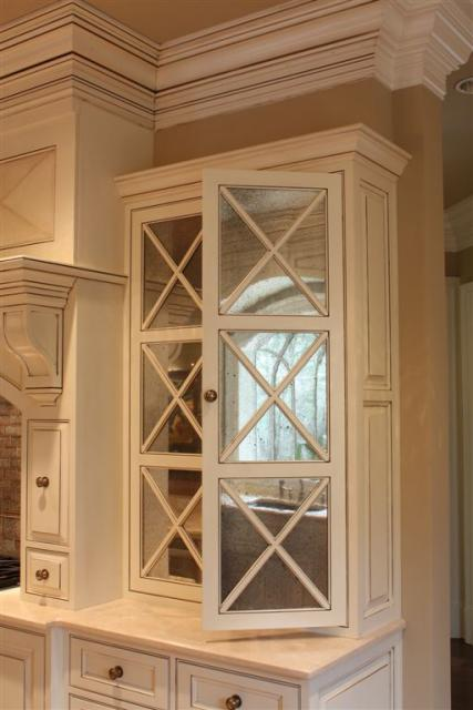 mirrored kitchen cabinets | cymun designs