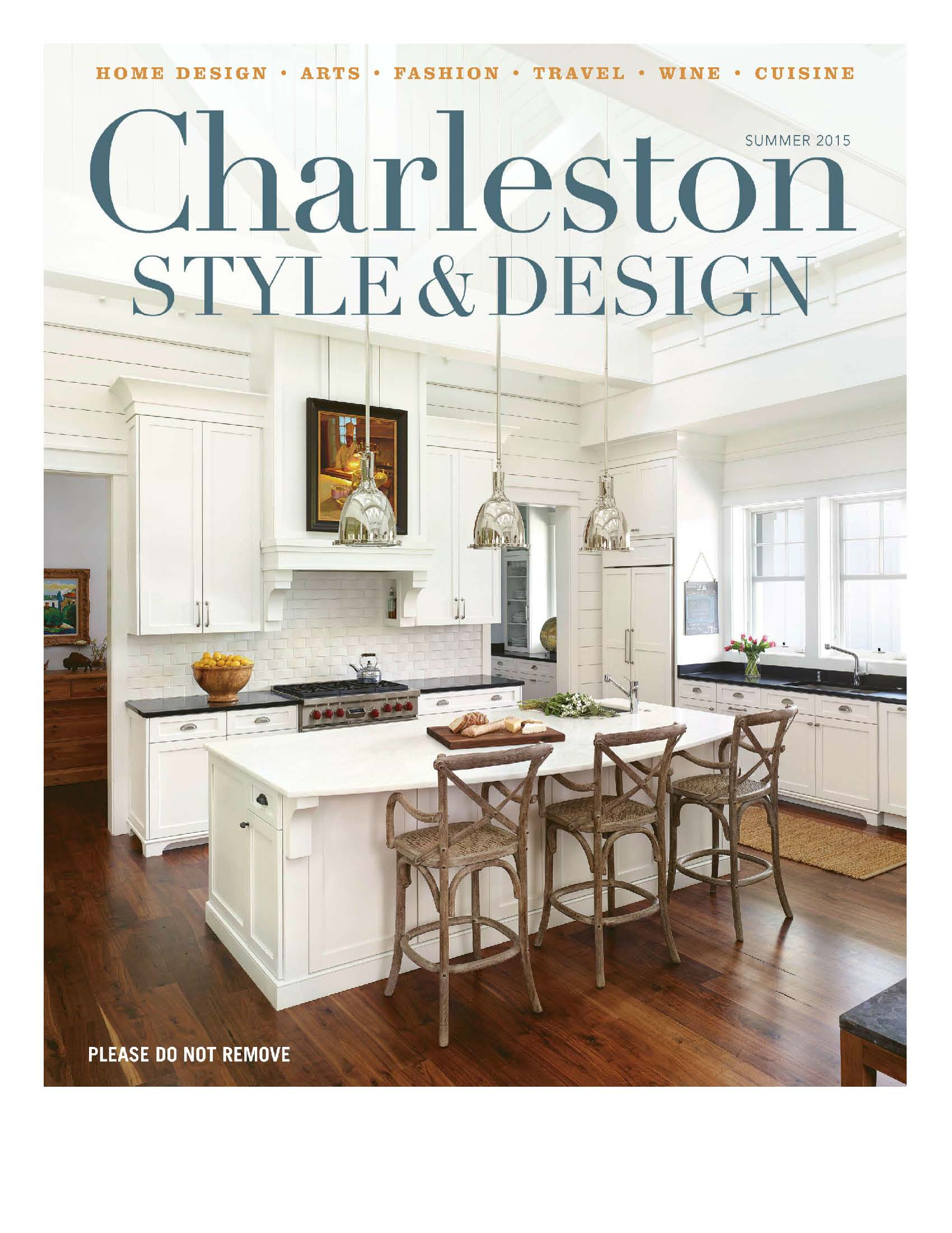 charleston style and design summer 2015 cover william c