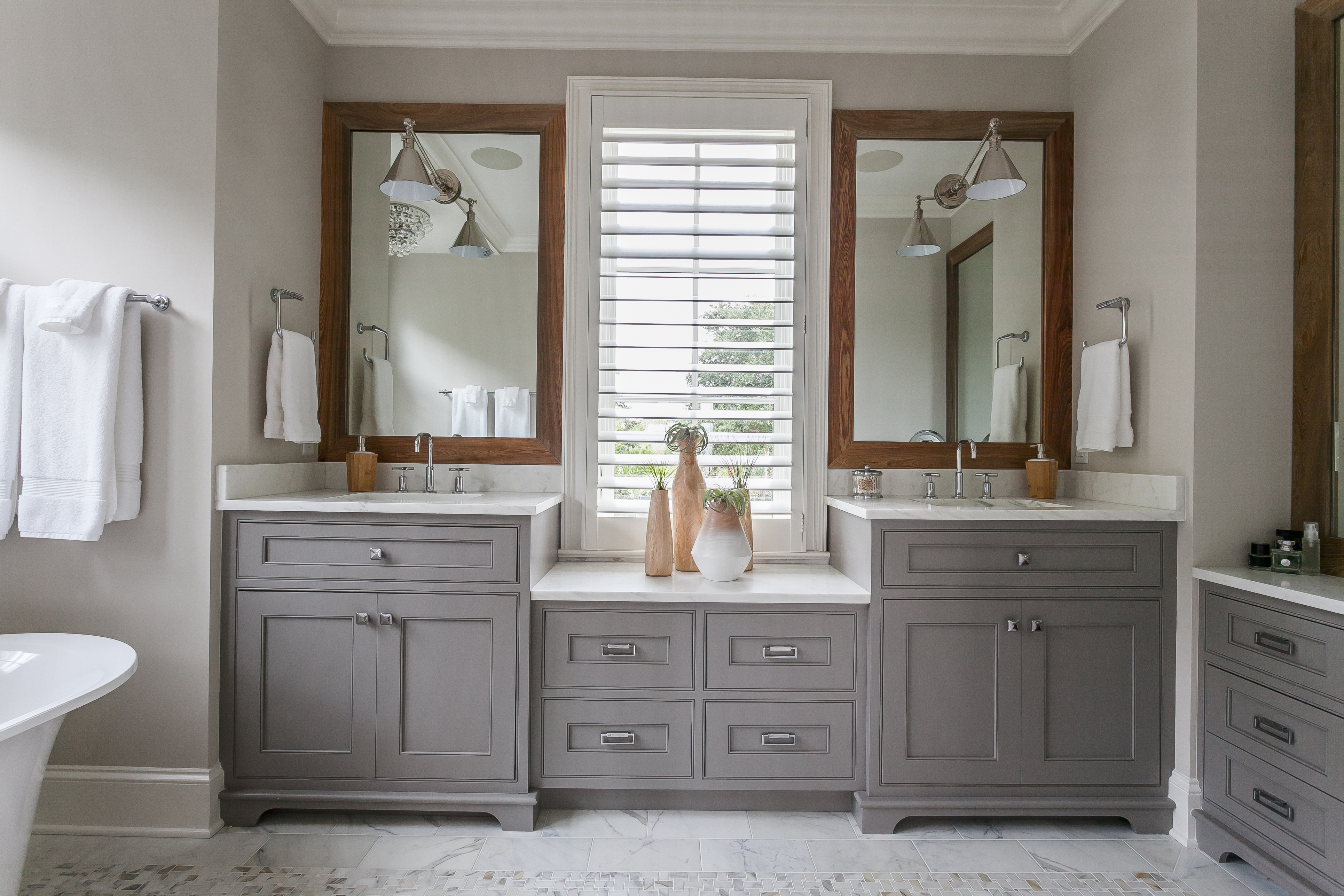vanities stone wall bathroom and counter william custom project sink cabinets vanity dark jeffrey undermount with